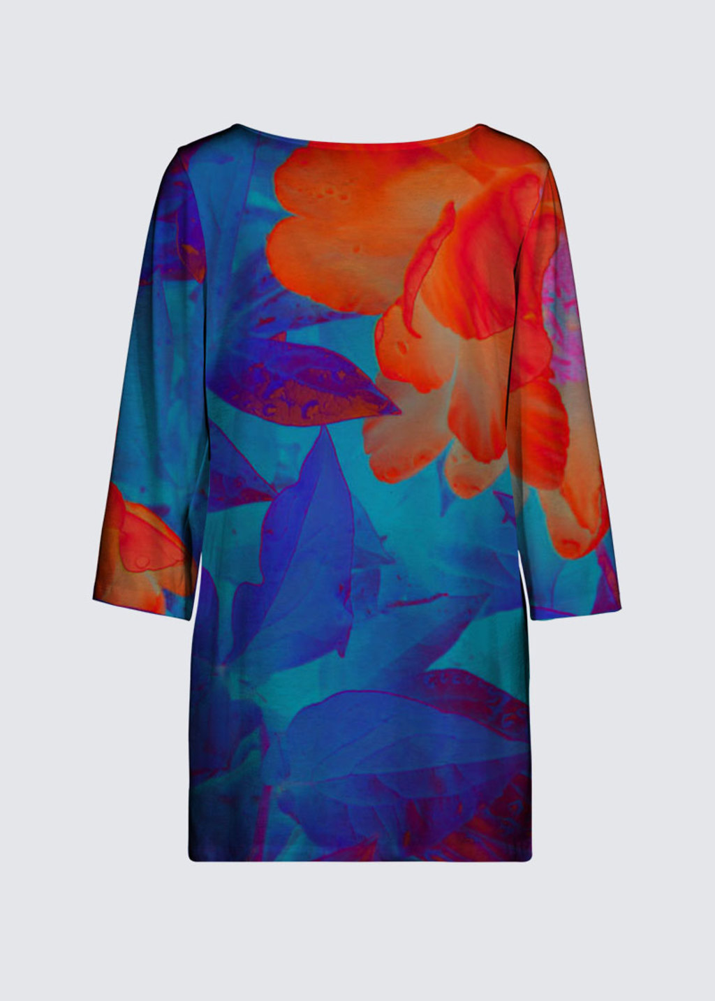 Picture of Electric Peonies Patti Tunic