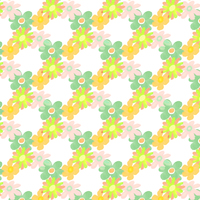 Picture of Floral 60s flower pattern