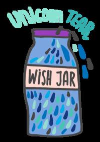Picture of Unicorn tear wish jar