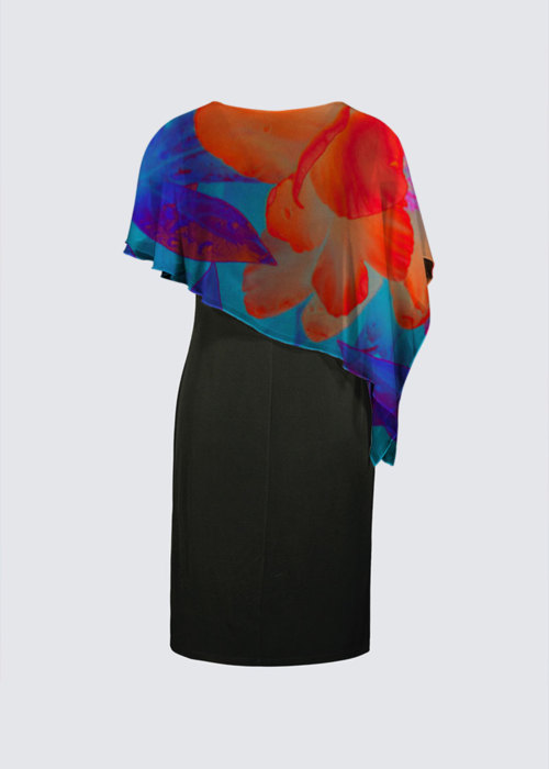 Picture of Electric Peonies Joni Cape Dress