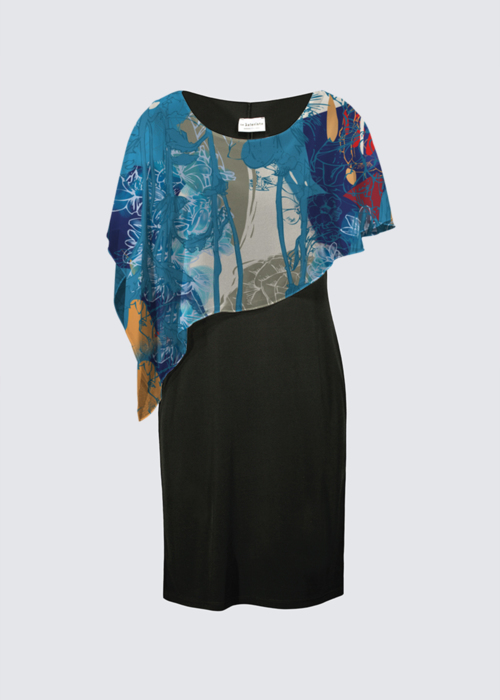 Picture of Flower Jungle Joni Cape Dress